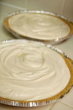 "Pinner said,""peanut butter pie. I made this for my husband's bday and it was a hit. I modified it. Instead of cool whip I whipped one cup of heavy cream and folded it in. I also crushed up Reese's and sprinkled them on top. Whipped Peanut Butter, Peanut Butter Desserts, No Bake Desserts, Easy Desserts, Delicious Desserts, Dessert Recipes, Yummy Food, Pie Recipes, Peanut Butter Cream Pie"