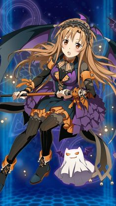 posts about games, funny stuff, and a lot of anime; Anime Halloween, Fete Halloween, Anime Chibi, Chica Anime Manga, Sword Art Online Asuna, Kunst Online, Online Art, Otaku Anime, Fanart Manga