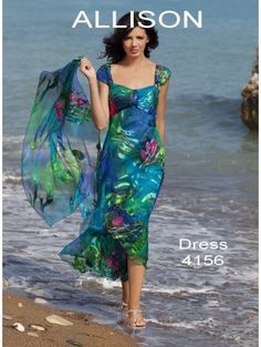 Perfect outfit for Mother of the Bride for weddings abroad  http://www.thecotswoldfrockshop.co.uk/occasion-wear-c3/allison-designs-allison-designs-4156-silk-soft-and-floaty-dress-multicolour-with-matching-scarf-p1751