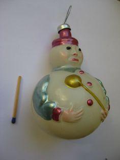 Повар с поварешкой 1950-е 8,5 см артель Культигрушка г. Ленинград Елочная игрушка