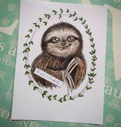 Вы, конечно, можете подумать что это мое тотемное животное, если судить по количеству свежевыложенных рисунков, но это просто милая Лень. Ни на что не намекаю. #sketch #sketchbook #copic #markers #ленивец #спиртовыемаркеры #лень #sloth #art #illustration #drawing #иллюстрация
