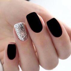 nails one color matte - nails one color ; nails one color simple ; nails one color acrylic ; nails one color summer ; nails one color winter ; nails one color short ; nails one color gel ; nails one color matte Dark Blue Nails, Matte Black Nails, Purple Nail, Black Nails Short, Black Nail Art, Matte Gel Nails, Dark Color Nails, White Nail, Short Nails Shellac