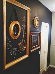 DIY Black Chalkboard Wall! Great for a back entry!