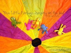 Parachute games for kids lesson plans 39 ideas Parachute Songs, Parachute Games For Kids, Games For Toddlers, Kid Games, Preschool Music, Preschool Age, Preschool Crafts, Gross Motor Activities, Infant Activities