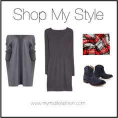 Layering Up A Simple Dress www.mymidlifefashion.com
