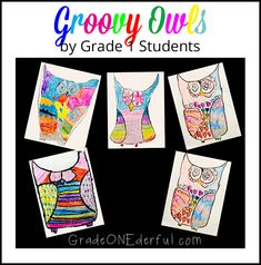 Groovy Owl Art Project Easy Art, Simple Art, First Grade Art, Owl Kids, Today Is My Birthday, Owl Pictures, Basic Shapes, Owl Art, Cute Owl