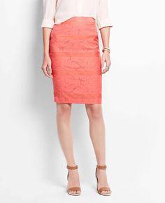 Floral Jacquard Pencil Skirt | Ann Taylor