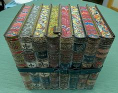 Antique Huntley & Palmers Biscuit Tin in the Shape of a Set of Books