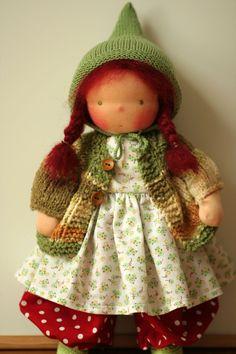 """Organic Waldorf doll Moira-16"""". $200.00, via Etsy."""