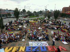 Desde Bogotá en apoyo a Venezuela #22F pic.twitter.com/iSqirzywIB #eluniversitario