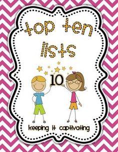 Top Ten Lists Center