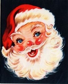 St.Nick (vintage) It sure tugs at the little girl in me! Christmas warmth just shines from his eyes!