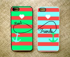 Items similar to iPhone iPhone iPhone 4 Samsung Galaxy Cases BFF Best Friend Green Blue Stripe personalized Protective Case on Etsy Iphone 5c, Iphone Cases, Bff Cases, Samsung Galaxy S3, Best Friends, Tech Tech, Apple, Bffs, Handmade Gifts