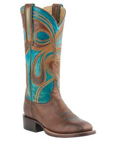 Lucchese 1883 Hypnotic Swirl Embroidered Horseman Cowgirl Boots - Square Toe