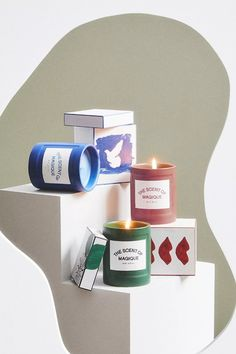 Hotel Magique for Anthropologie The Scent Of Magique Boxed Candle | Anthropologie Candle Box, Anthropologie Uk, Candles, Pretty, Products, Magic, Gadget, Pillar Candles, Lights