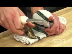 How to shuck an oyster without stabbing yourself