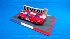 Diorama Le Mans Mulsanne Corner #slot #diorama #132scale #base  #scalextric #ninco #carrera #slotit #diecast #hotwheels #resin #forsale #miniature #art #airbrush #modelism #hobby #modelismo #rally #lemans #corner #curva #mulsanne #classic #kit #diy #wec #wrc #oldschool #lemans24h #ford #gt #gt40 #artisan #classiccar