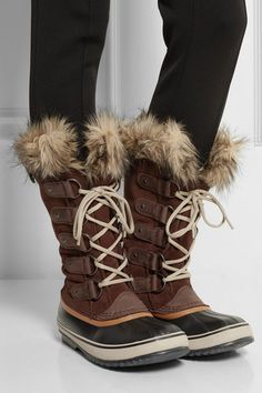 Sorel   Joan of Arctic waterproof suede and leather boots   NET-A-PORTER.COM