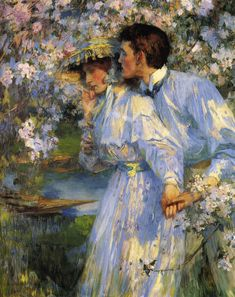 """In the Springtime"" by James Jebusa Shannon (1862-1923)"