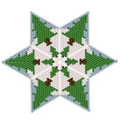 Christmas Tree Star Geometric Beading Pattern or Tutorial This is an intermediate to advanced pattern for those that know how to make a warped square and join them into a star. Perfect for your Christmas Tree Make your own beautiful piece of art from 11/0 delicas. This is a DIGITAL