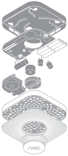exploded view of products sketch \ exploded view sketch products , exploded view of products sketch Technical Illustration, Technical Drawing, Id Design, Graphic Design, Presentation Styles, Product Presentation, Exploded View, Sketching Techniques, Model Sketch