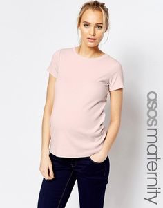 ASOS+Maternity+T-Shirt+With+Crew+Neck+and+Cap+Sleeve