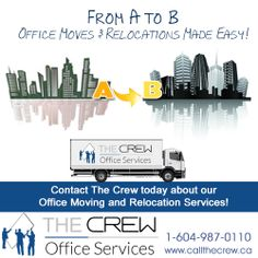 There is NOTHING that The Crew can't handle! We have YEARS of experience with Office Moves and Relocations. From A to B, moves are made easy by The Crew! For more information call: Office Moving, Relocation Services, Recycled Furniture, Office Furniture, Make It Simple, Recycling, Handle, Easy, Office Designs