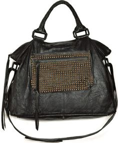 Black Lolita Tote w/ Studded Pocket