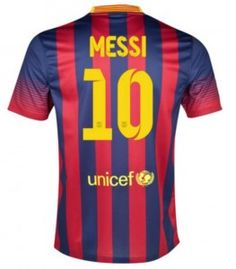 Barcelona Jersey 13/14 #10 MESSI Home Soccer Jersey Soccer Shirt Nike Deep Blue And Red Stripe