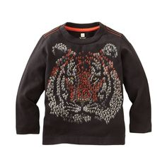 For girls who prefer tigers over kittens, we say raid the boys department for this awesome shirt!  From Tea Collection, sizes 2-12.
