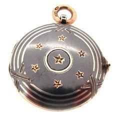 Antique Silver & Niello Enamel Locket | A.R. Ullmann
