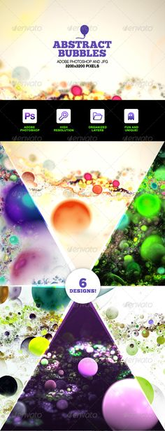 Abstract Bubbles Backgrounds Photoshop Set