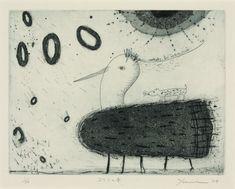 Title  Chick's Springtime  Artist  Yukiko Kanno  Year  2004  Process  Etching/aquatint/drypoint  Size  18x24cm