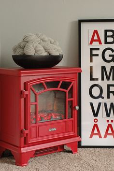 really want this little red stove!!