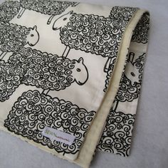 Organic Baby Blanket in Modern Sheep - Childrens Bedding Blanket for Eco Friendly Kids in Black and White. $59.00, via Etsy.