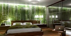 schlafzimmer wald tapete
