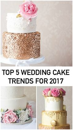 Keep an Eye Out for These 5 Wedding Cake Trends in 2017