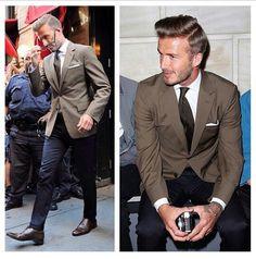 . David Beckham Style, Brown Suits, Brown Blazer, Charming Man, Wedding Suits, Dress Codes, Street Wear, Suit Jacket, Menswear