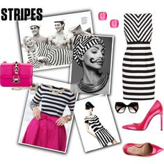 Love Stripes by glamour-melrose on Polyvore featuring moda, Valentino, Kate Spade and Prada