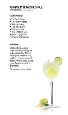 GINGER LEMON SPICE | Patrón Tequila