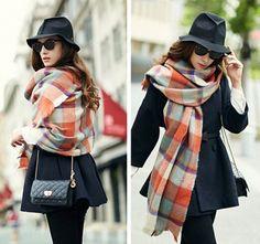 http://www.buyhathats.com/orange-plaid-scarf-women-autumn-winter-oversized-shawl.html