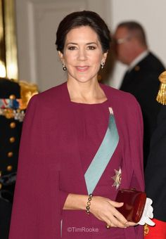 Crown Princess Mary and Crown Prince Frederik at the final New Year's reception at Christiansborg Palace Jan. 4, 2017