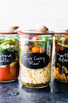 Mason Jar Lunch, Mason Jar Meals, Meals In A Jar, Real Food Recipes, Soup Recipes, Healthy Recipes, Freezer Recipes, Freezer Cooking, Drink Recipes