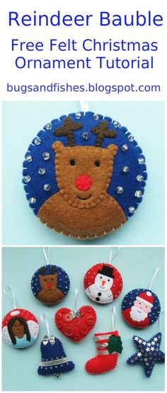 Get your Christmas craft on with this DIY ornament tutorial - sew a cute felt reindeer!