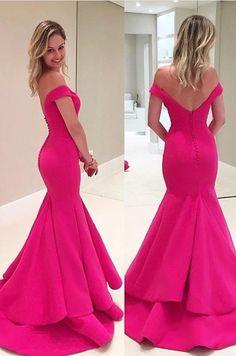 Elegant Off The Shoulder Prom Dresses, Mermaid Prom