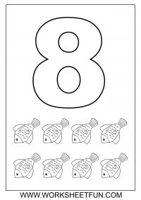 number coloring 8 - Number 8 Coloring Page