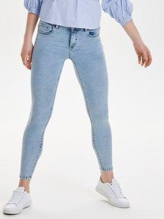 Only Carmen Rg Skinny Fit Jeans für 49,99€. Skinny-Jeans mit Normal Waist, Knöchellang, 5 Taschen bei OTTO