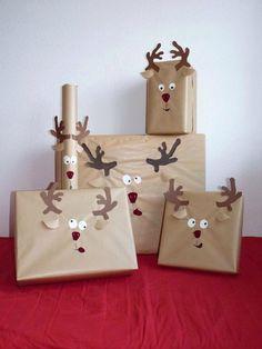 Kerst cadeautjes inpakken