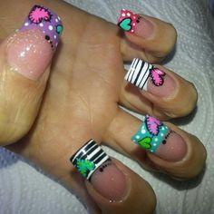 Cute Nail Art Ideas to Try - Nailschick Cute Nail Art, Cute Nails, Pretty Nails, Crazy Nails, Funky Nails, Heart Nail Designs, Nail Art Designs, Nails Design, Hair And Nails