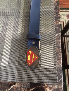1979 Superman belt buckle and belt. Made in by THOMASTREASURETRUNK